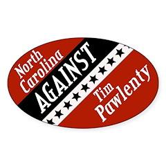 North Carolina Against Pawlenty sticker