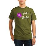 Girls Rule Organic Men's T-Shirt (dark)