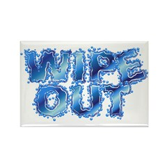 Wipeout-Splash Rectangle Magnet (100 pack)