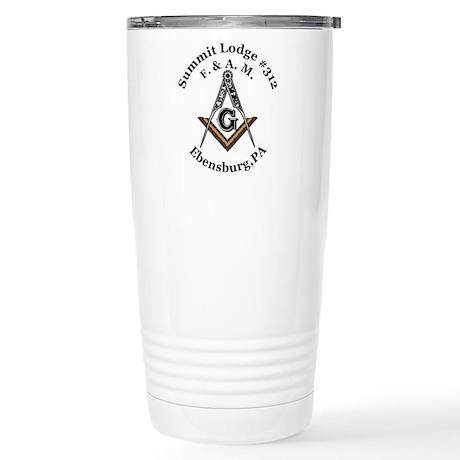 Summit Lodge #312 Stainless Steel Travel Mug