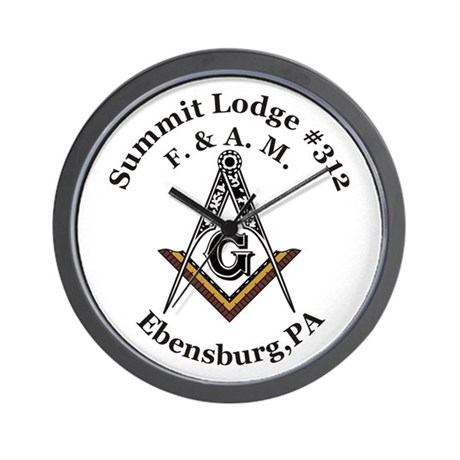 Summit Lodge #312 Wall Clock
