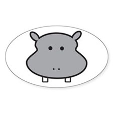 Hippo Head Decal