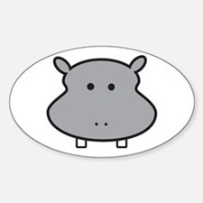 Hippo Head Decal