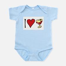 I Love Red Wine Infant Bodysuit
