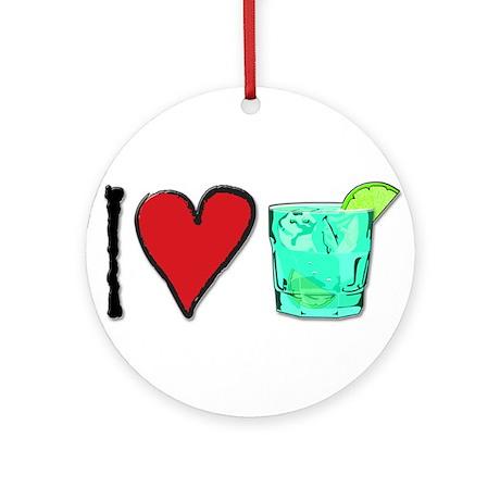 I Love T & T Ornament (Round)