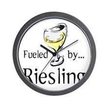 Fueled by Riesling Wall Clock