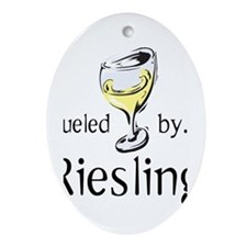 Fueled by Riesling Ornament (Oval)