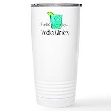 Fueled by Vodka Gimlets Travel Coffee Mug