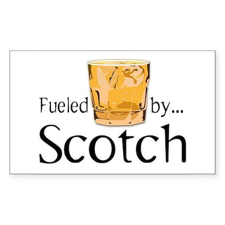 Fueled by Scotch Sticker (Rectangle)