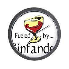 Fueled by Zinfandel Wall Clock