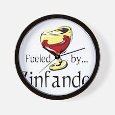 Fueled by Zinfandel Wall Clock