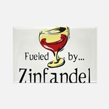 Fueled by Zinfandel Rectangle Magnet