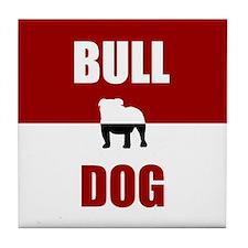 Bulldog Tile Coaster