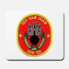 USS San Juan SSN 751 Mousepad