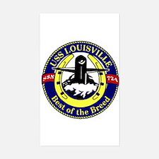USS Louisville SSN 724 Rectangle Decal