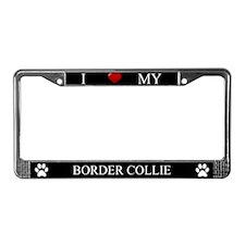 Black I Love My Border Collie Frame