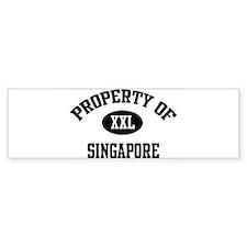 Property of Singapore Bumper Bumper Sticker