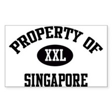 Property of Singapore Rectangle Decal