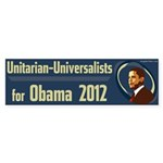 Unitarian-Universalists for Obama bumper sticker