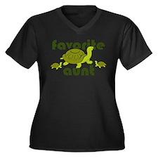 Favorite Aunt Women's Plus Size V-Neck Dark T-Shir