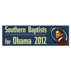 Southern Baptists for Obama bumper sticker