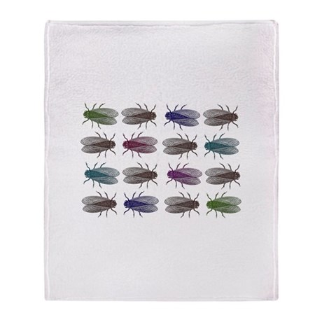 Fruit Fly Antique Engraving Throw Blanket