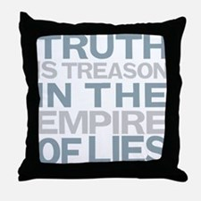 Truth is Treason Throw Pillow