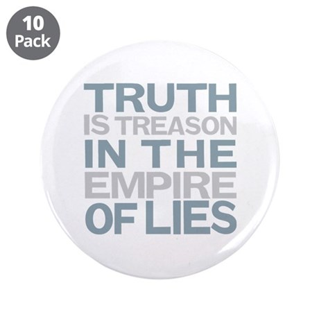 """Truth is Treason 3.5"""" Button (10 pack)"""