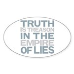 Truth is Treason Sticker (Oval 50 pk)
