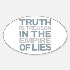 Truth is Treason Sticker (Oval)