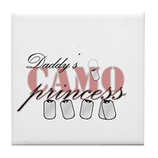 Daddys camo princess Tile Coaster