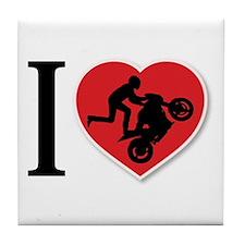 Love Wheelies Tile Coaster
