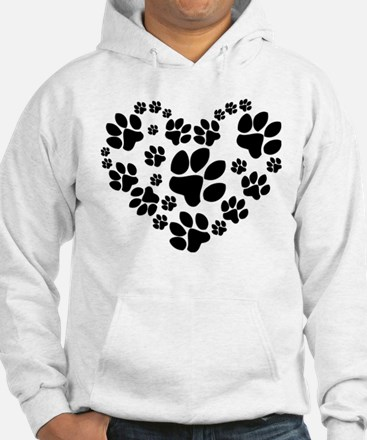 Paws Heart Jumper Hoody