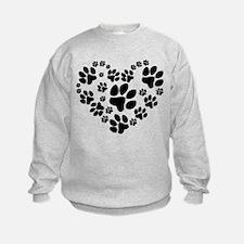 Paws Heart Sweatshirt