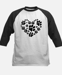 Paws Heart Kids Baseball Jersey