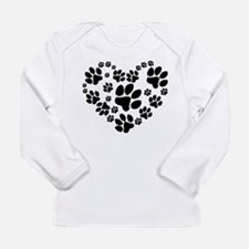 Paws Heart Long Sleeve Infant T-Shirt