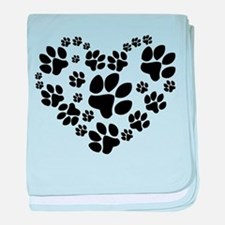 Paws Heart baby blanket