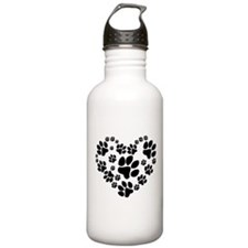 Paws Heart Water Bottle