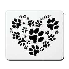 Paws Heart Mousepad