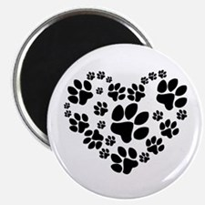 "Paws Heart 2.25"" Magnet (10 pack)"