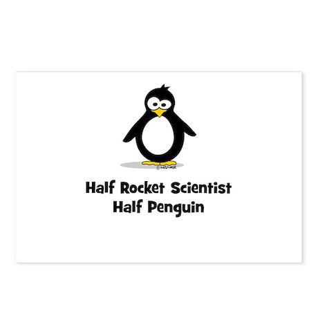 Half Rocket Scientist Half Pe Postcards (Package o