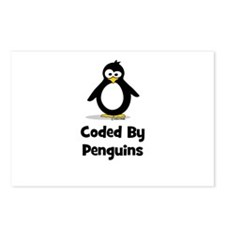 Coded By Penguins Postcards (Package of 8)