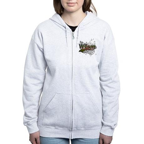 Wilson Tartan Grunge Women's Zip Hoodie