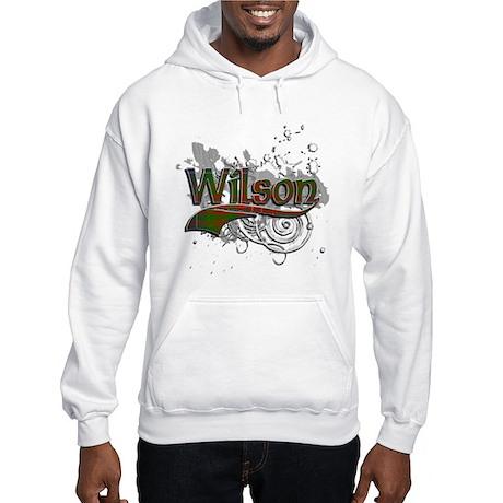 Wilson Tartan Grunge Hooded Sweatshirt