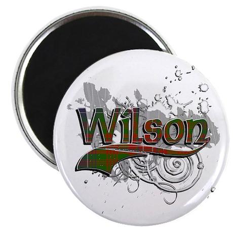 Wilson Tartan Grunge Magnet