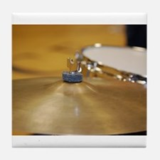 Funny Cymbal Tile Coaster