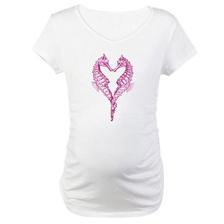 Seahorses heart Maternity T-Shirt