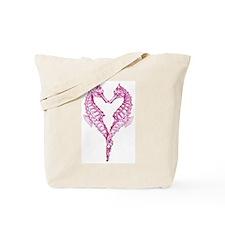 Seahorses heart Tote Bag