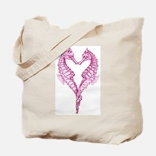 Seahorses heart Tote Bag