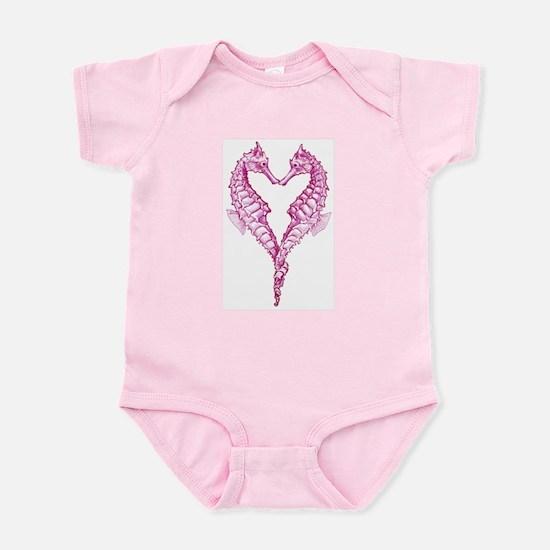 Seahorses Heart Infant Body Suit